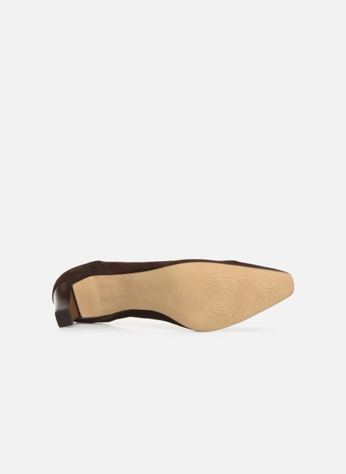 High heels Perlato 10367 Brown view from above