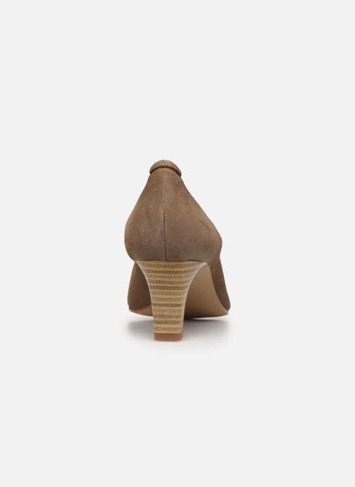Zapatos de tacón Perlato 10367 Marrón vista lateral derecha