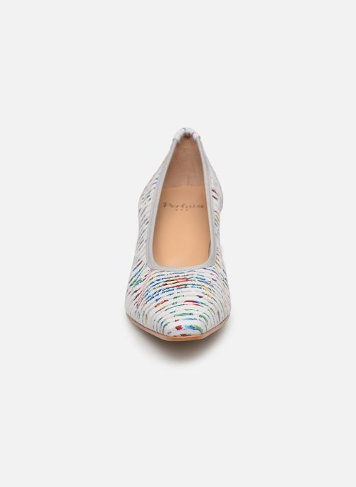 Escarpins Perlato 10367 Blanc vue portées chaussures