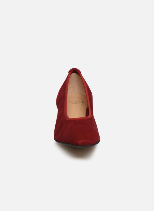 Décolleté Perlato 11129 Rosso modello indossato