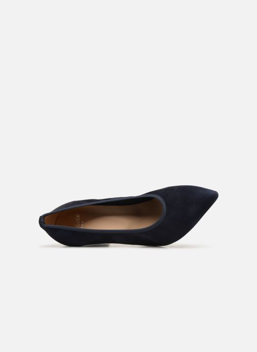 High heels Perlato 11128 Blue view from the left