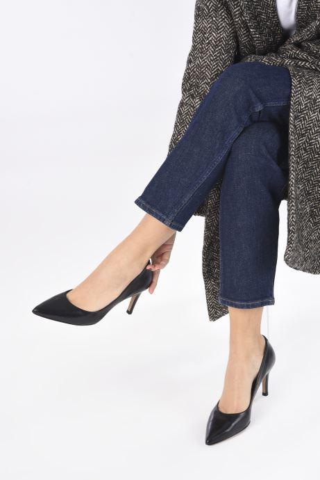 High heels Perlato 10509 Black view from underneath / model view