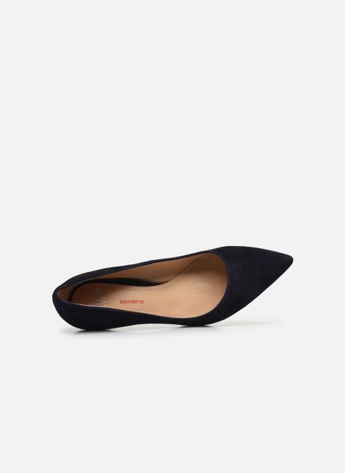 Zapatos de tacón Perlato 10509 Azul vista lateral izquierda