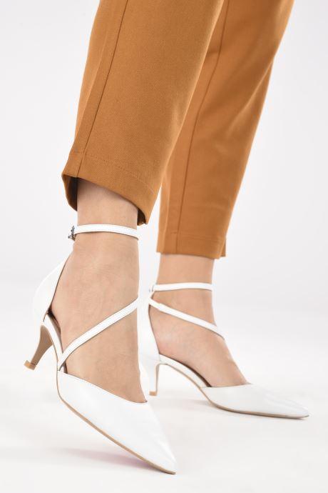Zapatos de tacón Perlato 11125 Blanco vista de abajo