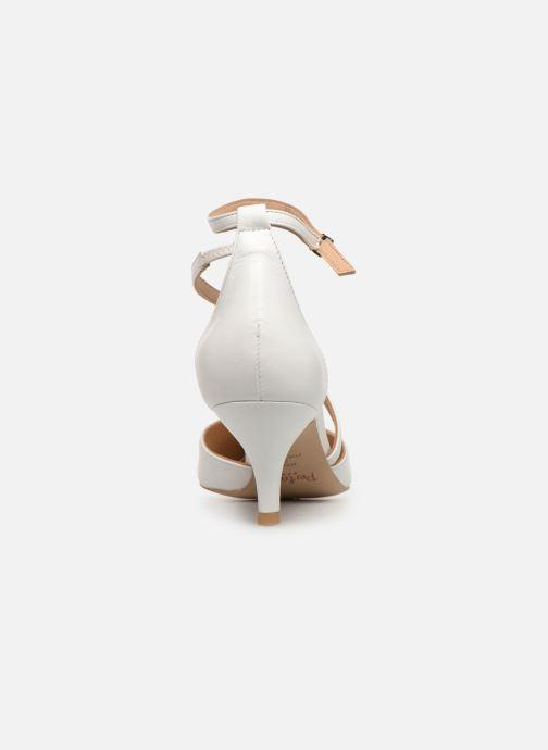 Zapatos de tacón Perlato 11125 Blanco vista lateral derecha