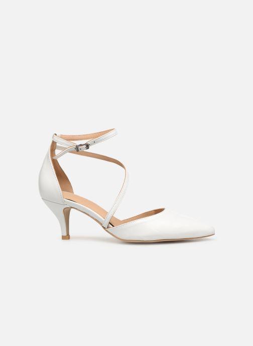 Zapatos de tacón Perlato 11125 Blanco vistra trasera