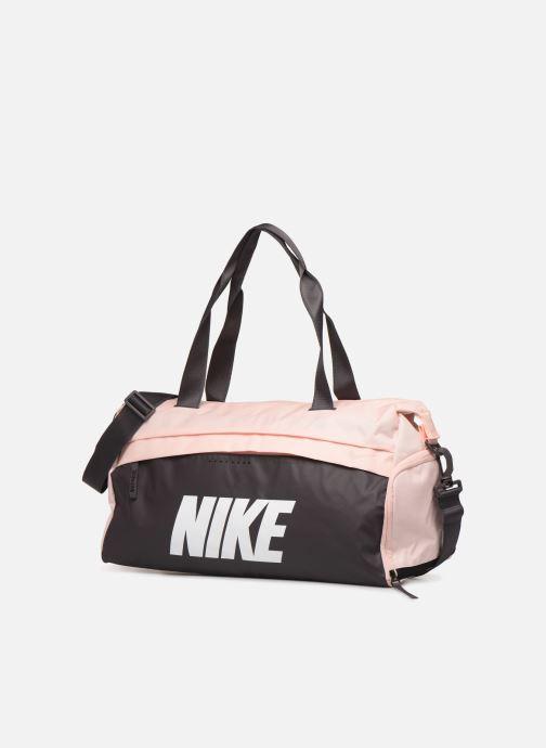 Bolsas de deporte Nike Women's Training Graphic Club Bag Rosa vista del modelo