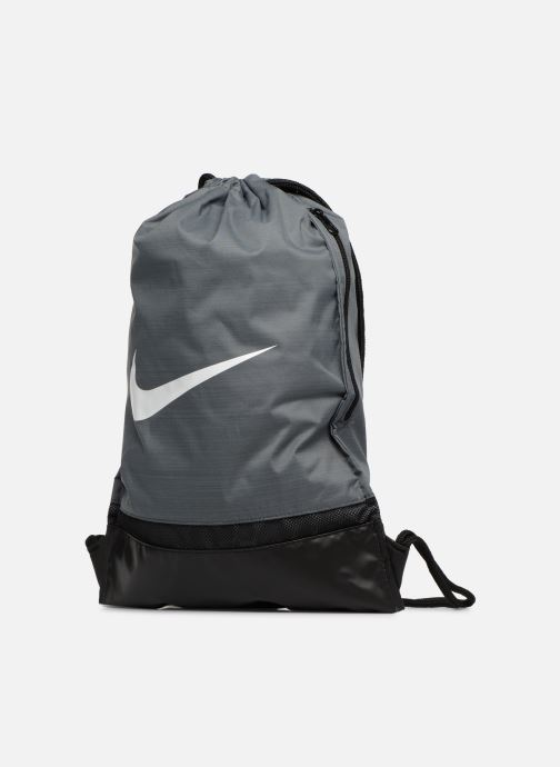 Borsa da palestra Nike Nike Brasilia Training Gymsack Grigio modello indossato