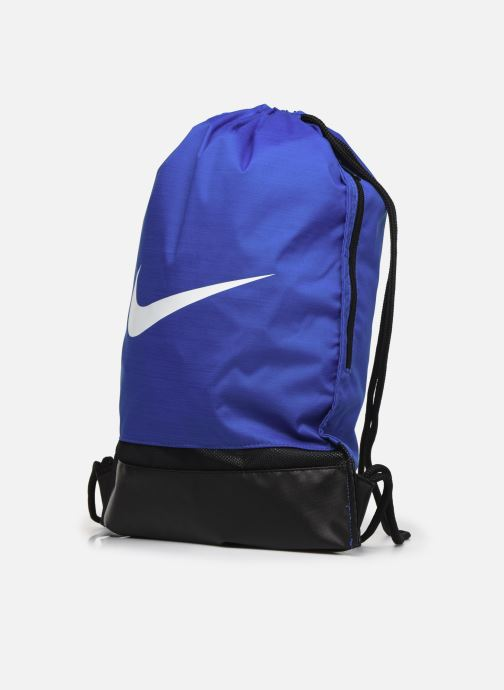 Sacs de sport Nike Nike Brasilia Training Gymsack Bleu vue portées chaussures