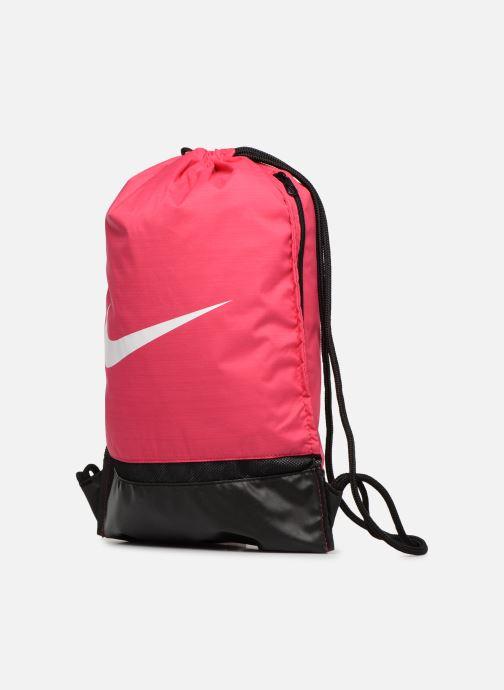 Sacs de sport Nike Nike Brasilia Training Gymsack Rose vue portées chaussures