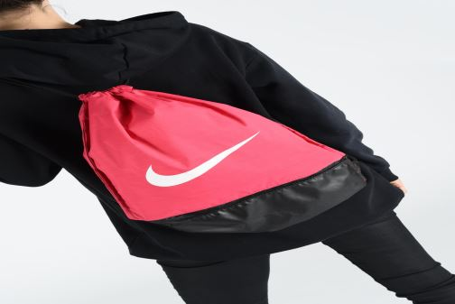 Sacs de sport Nike Nike Brasilia Training Gymsack Rose vue bas / vue portée sac