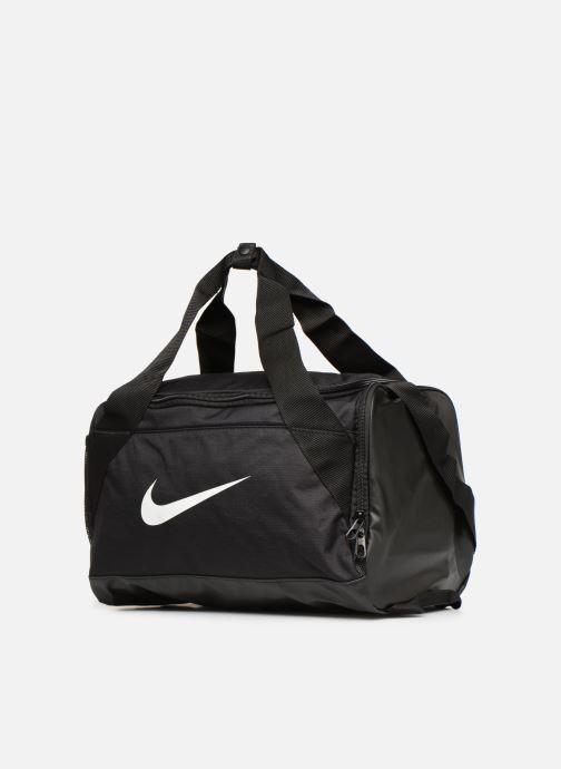 Bolsas de deporte Nike Nike Brasilia (Extra-Small) Duffel Bag Negro vista del modelo