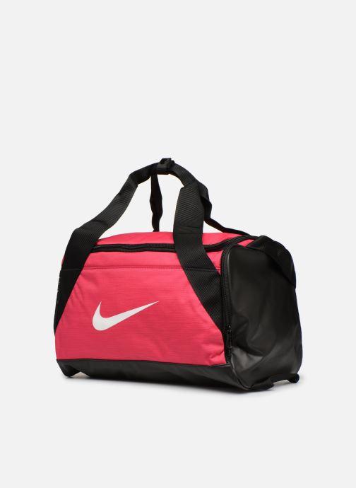 Sacs de sport Nike Nike Brasilia (Extra-Small) Duffel Bag Rose vue portées chaussures