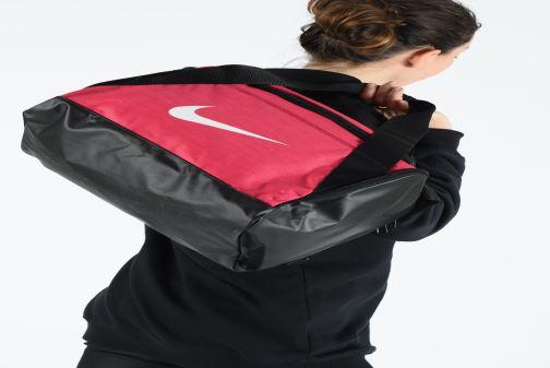 Sacs de sport Nike Nike Brasilia (Extra-Small) Duffel Bag Rose vue bas / vue portée sac