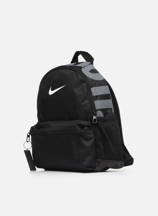 Sacs à dos Nike MINI Nike Brasilia JDI Noir vue portées chaussures