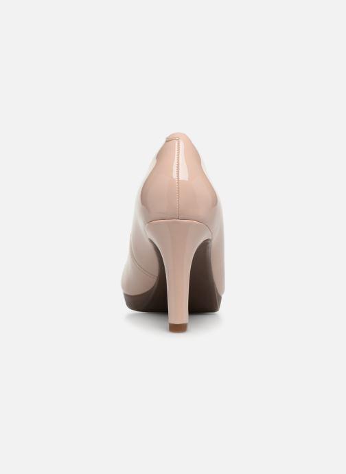 Zapatos de tacón Clarks Adriel Viola Rosa vista lateral derecha