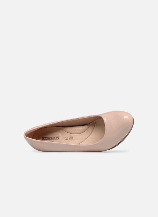 Zapatos de tacón Clarks Adriel Viola Rosa vista lateral izquierda