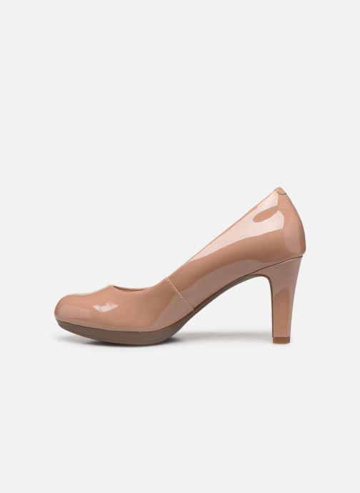 Zapatos de tacón Clarks Adriel Viola Beige vista de frente