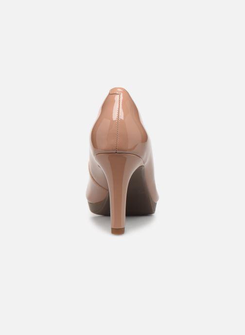 Zapatos de tacón Clarks Adriel Viola Beige vista lateral derecha