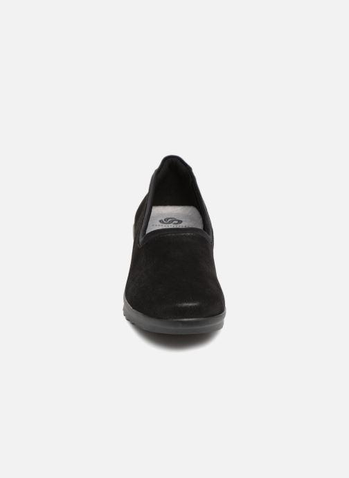 Ballerines Clarks Caddell Jaylin Noir vue portées chaussures