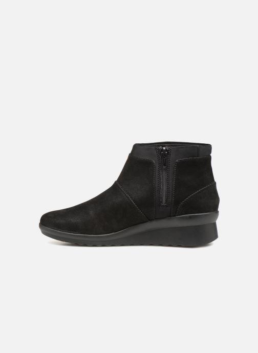 Bottines et boots Clarks Caddell Sloane Noir vue face