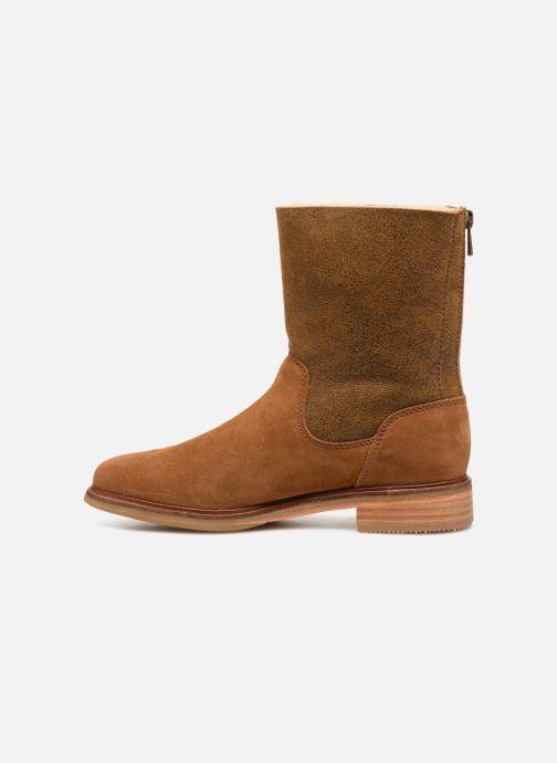 Bottines et boots Clarks Clarkdale Axel Marron vue face