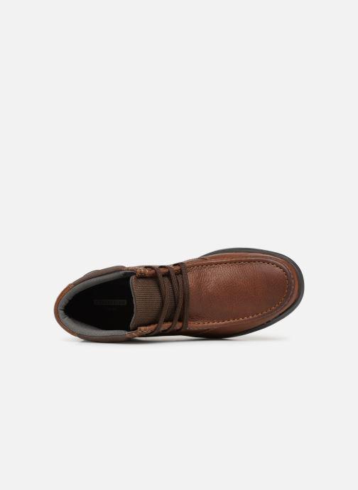 Boots en enkellaarsjes Clarks Cotrell Top Bruin links