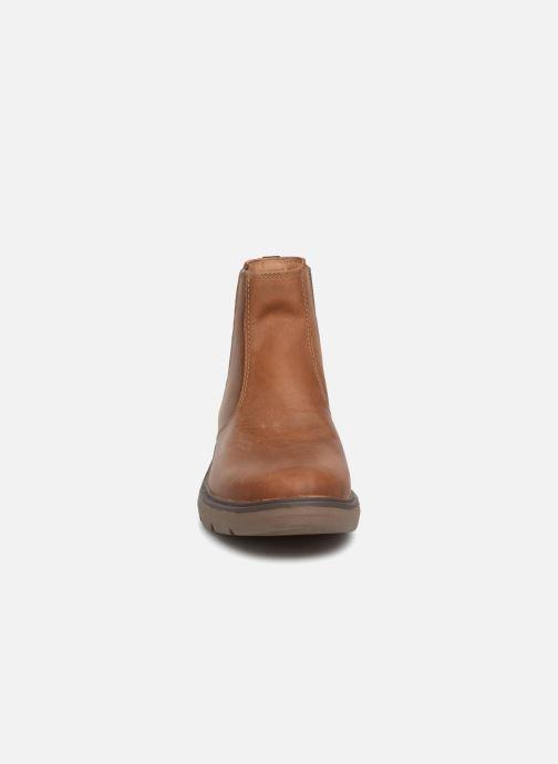 Bottines et boots Clarks Unstructured Un Map Up Marron vue portées chaussures