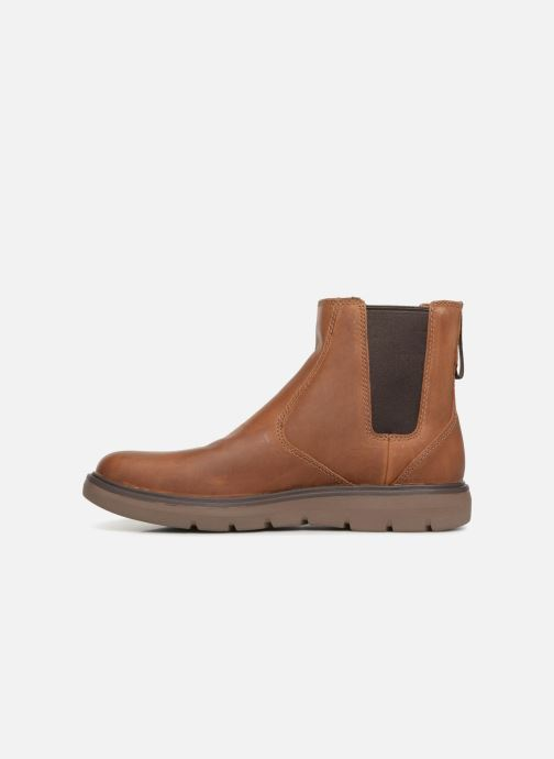 Ankle boots Clarks Unstructured Un Map Up Brown front view