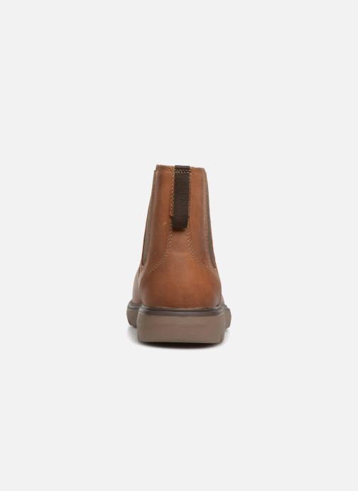 Ankle boots Clarks Unstructured Un Map Up Brown view from the right