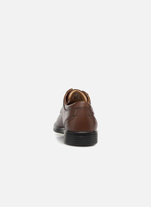Zapatos con cordones Clarks Unstructured UnAldricTieGTX Marrón vista lateral derecha