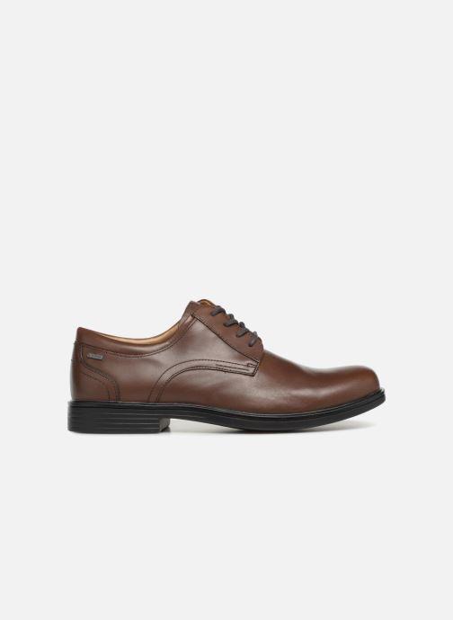 Chaussures à lacets Clarks Unstructured UnAldricTieGTX Marron vue derrière
