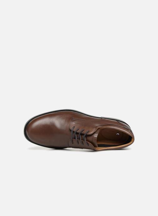 Zapatos con cordones Clarks Unstructured UnAldricTieGTX Marrón vista lateral izquierda