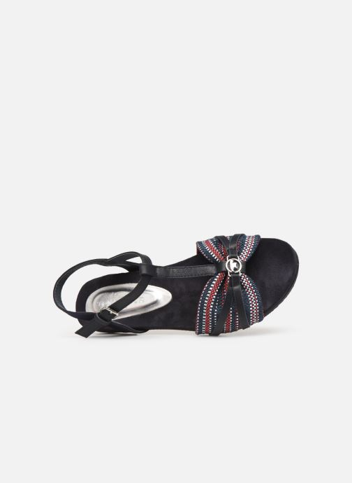 Sandalen Tom Tailor Mariele Blauw links