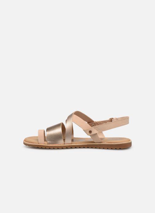 Sandales et nu-pieds Sorel Ella Criss Cross Beige vue face