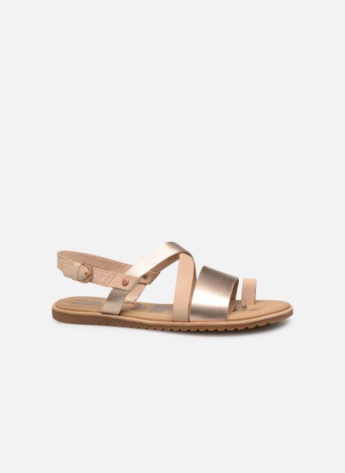 Sandales et nu-pieds Sorel Ella Criss Cross Beige vue derrière