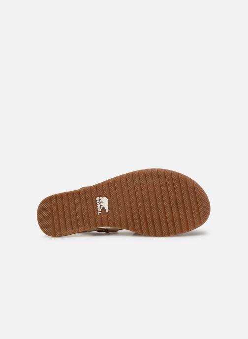 Sandales et nu-pieds Sorel Ella Criss Cross Beige vue haut