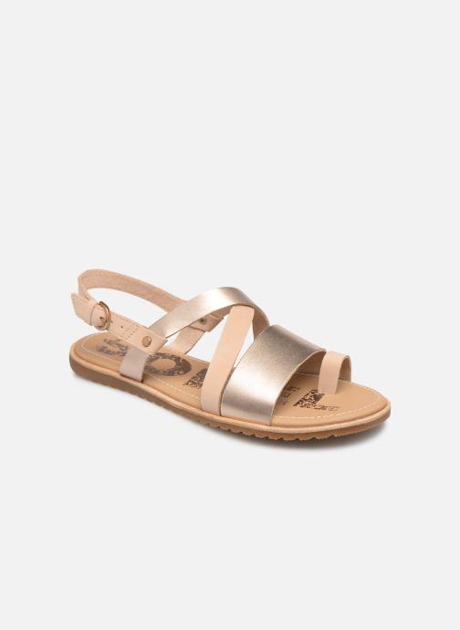 Sandales et nu-pieds Sorel Ella Criss Cross Beige vue détail/paire