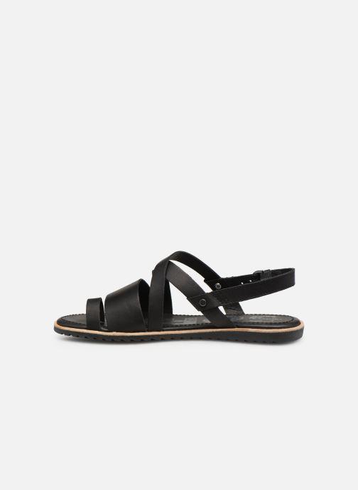 Sandales et nu-pieds Sorel Ella Criss Cross Noir vue face