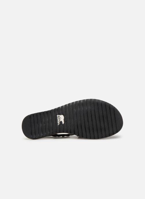 Sandales et nu-pieds Sorel Ella Criss Cross Noir vue haut
