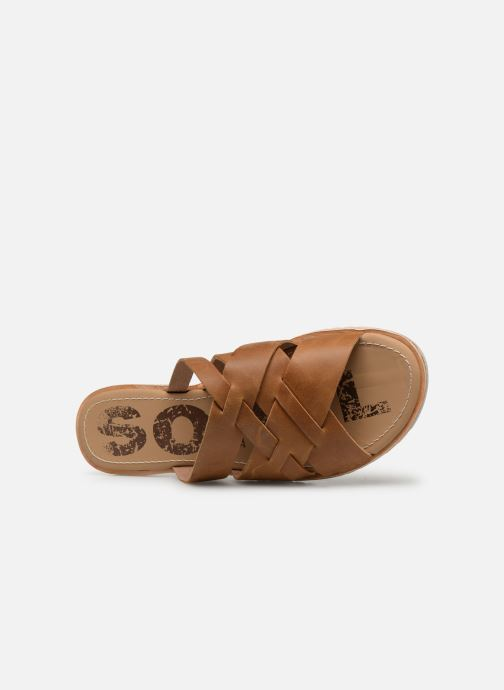 Clogs & Pantoletten Sorel Ella Slide braun ansicht von links