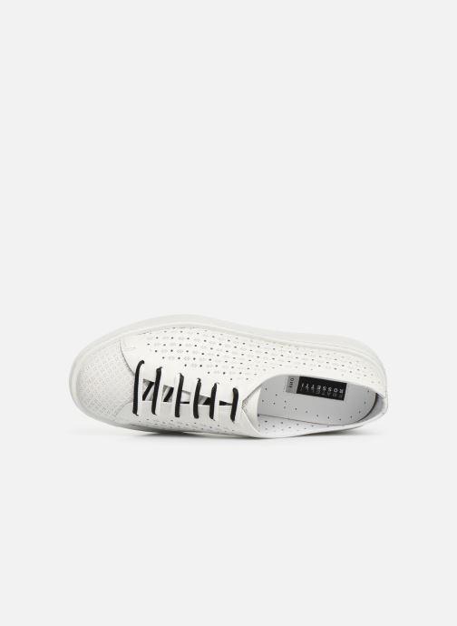 Sneakers Fratelli Rossetti Fiore Bianco immagine sinistra