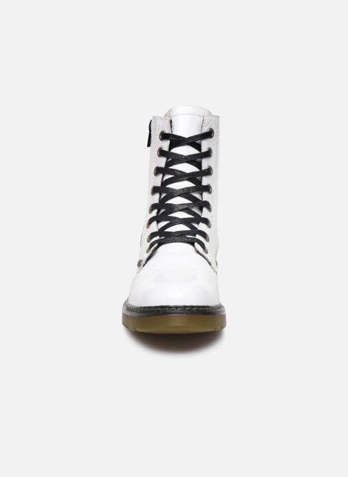 Bottines et boots Bullboxer 875M86551 Blanc vue portées chaussures