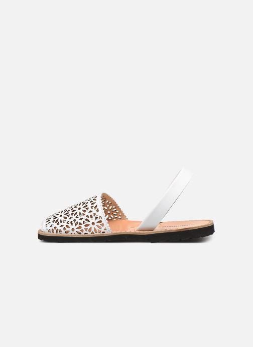 Sandales et nu-pieds Minorquines Avarca 4 Blanc vue face