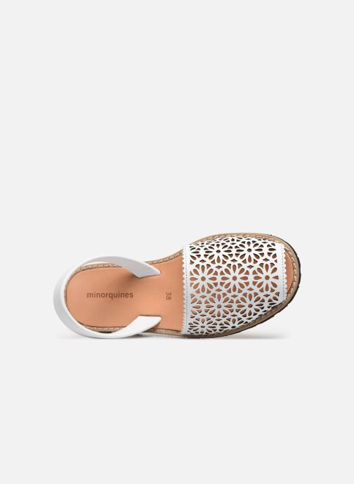 Sandali e scarpe aperte Minorquines Avarca 4 Bianco immagine sinistra