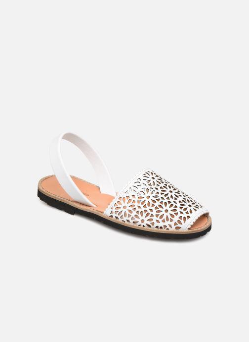 Sandales et nu-pieds MINORQUINES Avarca 4 Blanc vue détail/paire