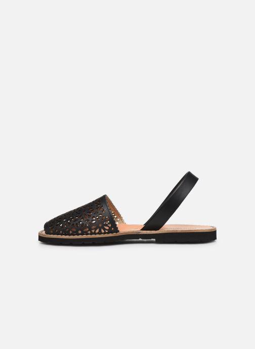 Sandalen Minorquines Avarca 4 schwarz ansicht von vorne