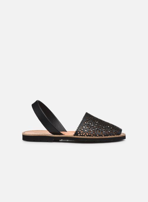 Sandalen Minorquines Avarca 4 schwarz ansicht von hinten