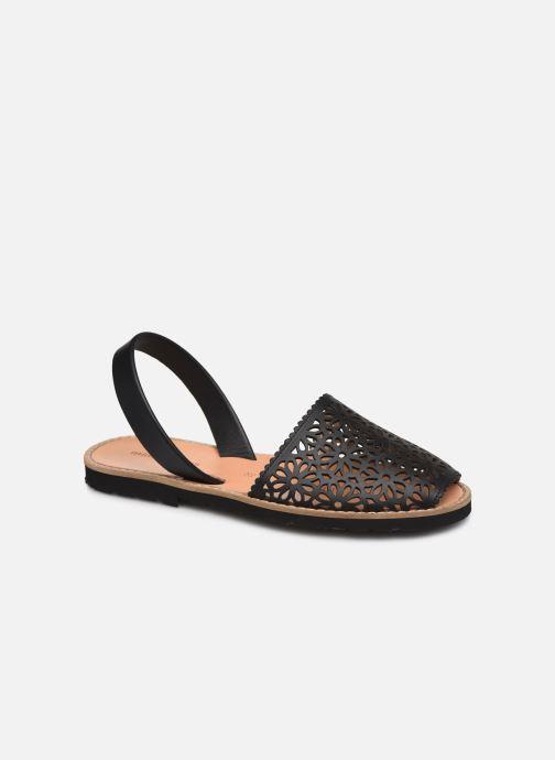 Sandalen Minorquines Avarca 4 schwarz detaillierte ansicht/modell