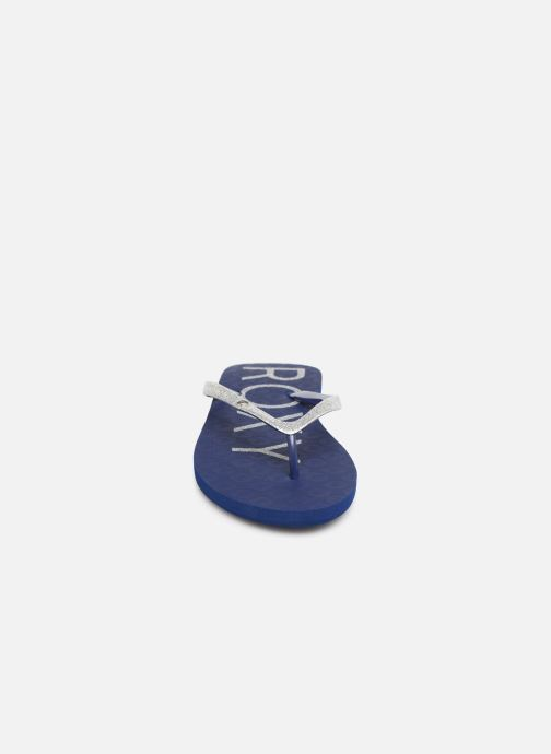 Tongs Roxy Viva Glitter Bleu vue portées chaussures
